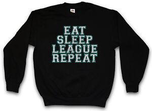 Legends Of Pullover Eet Computerwetenschapper Sweatshirt Sleep League Fun Repeat w1wqzfS