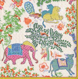 4 x Single Paper Napkins//3 Ply//Decoupage//Dining//Craft//Le Jardin De Mysore