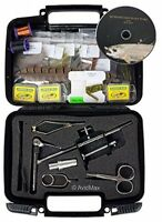 Fly Tying Kit Anglers Tackle Bait Equipment Aid Fly Fishing Sprots Hooks Tools on sale