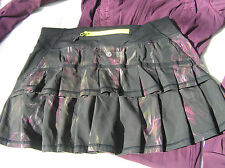 Lululemon 4 Run: Pacesetter Skirt Midnight Iris Black Floral EUC! Rare!