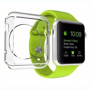 For-All-Apple-Watch-Series-1-2-3-Screen-Protector-amp-Clear-Gel-Case