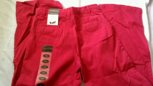 Pink George Girls cotton blend Adjustable waist  Pants size 16  New
