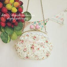 Japanese Mori Girl Sweet Lolita Floral Bow Messenger Bag Shoulder Bags Handbag