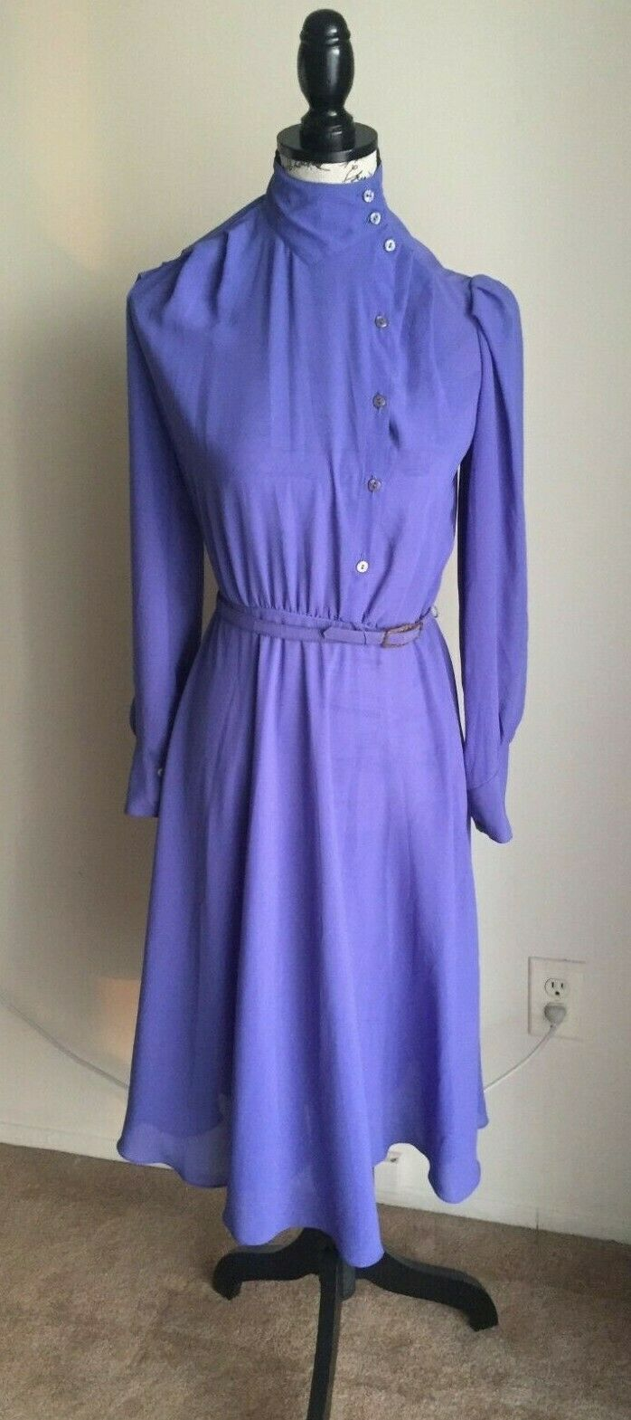 Vintage 1970s St. Gillian by Kay Unger purple dress B. Altman Co. NY
