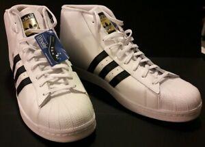 Adidas-Pro-Model-Men-039-s-Shoes-White-Core-Black-White-s85956-Size-20
