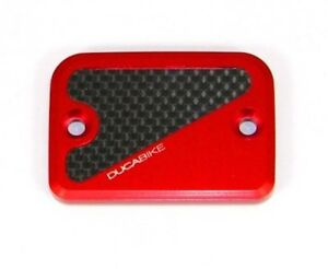 Red Ducabike Ducati Panigale V2 CNC Front Brake Clutch Reservoir Caps