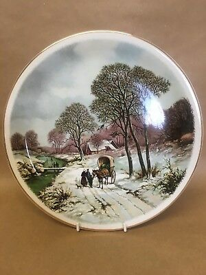 Poole Pottery Transfer Plate Landscape In Winter After Painting By B.C.Koekkoek