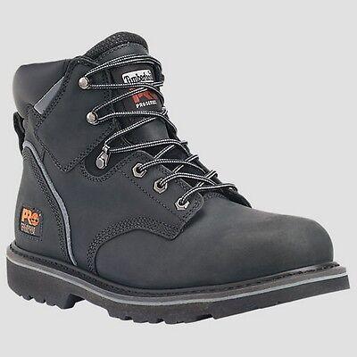"New Mens Timberland PRO Pit Boss 6"" Steel Toe Black Work Boot Size 7-15 33032001"