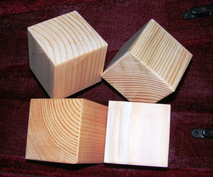3.5 Wood Cube Stacking Blocks Sanded And Smoothed - Set of Nine (9) Made in USA