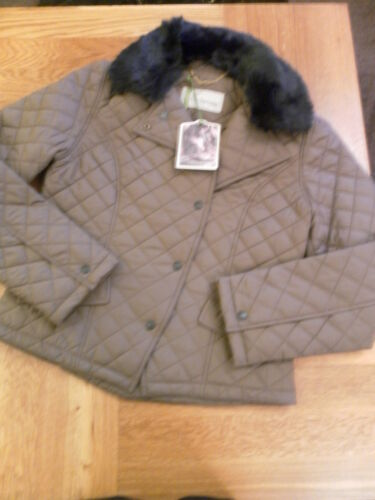 LADIES JOHN PARTRIDGE CLIFTON QUILTED JACKET LIGHT OLIVE S//M 102513
