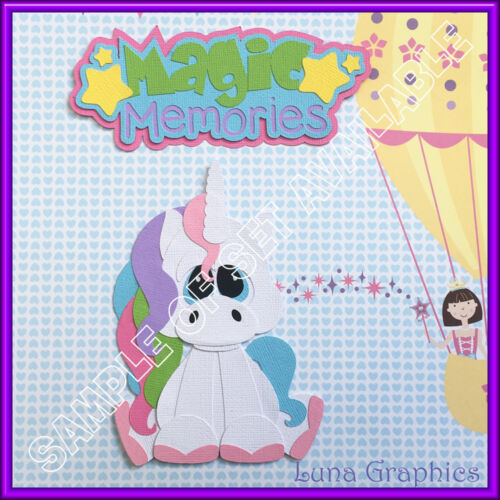 MAGICAL MEMORIES TITLE Paper Piecing card making /& scrapbooking NOT FOR RESALE