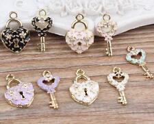 12pcs popular color mix Metal Charms pendants DIY Jewellery Making crafts 24mm