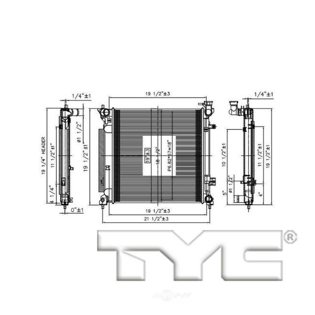 Radiator-Assembly TYC 13537 Fits 2016 Acura ILX