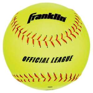 f05d37976ca Image is loading Franklin-Sports-Official-League-Synthetic-Softball-4-Pack