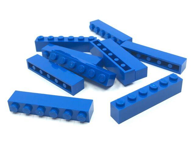 Blue 4 X LEGO 3009 Brick Brick 1x6 new New Bright Blue