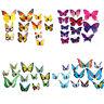 12pcs 3D Wall Stickers Butterfly Fridge Magnet Wedding Decoration Home Tide