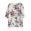 Women-S-XL-Kimono-Cardigan-Open-tunic-Outerwear-Short-Sleeve-Floral-Print-Tassel thumbnail 3