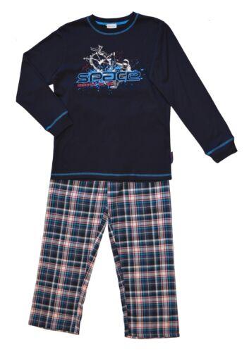 Jungen Schlafanzug mit karierter Flanellhose Moonline