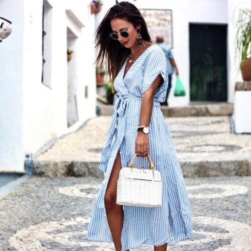 chemise Zara Robe Zara mi longue Robe p7q8Z