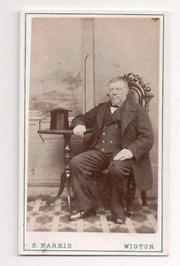 Vintage-CDV-Unknown-Gentleman-Top-Hat-S-Harris-Photo-Wigton-F29