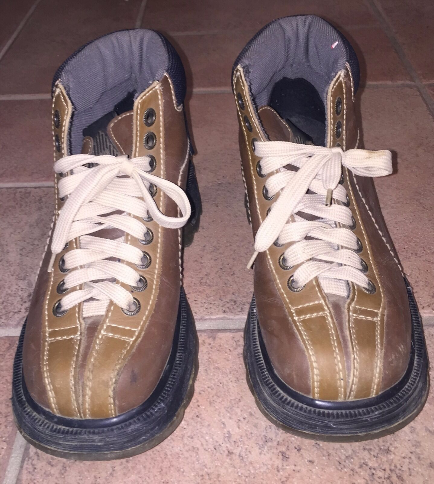 DR DOC MARTENS DM'S Brown Leather Boots 9793 Size 4 US