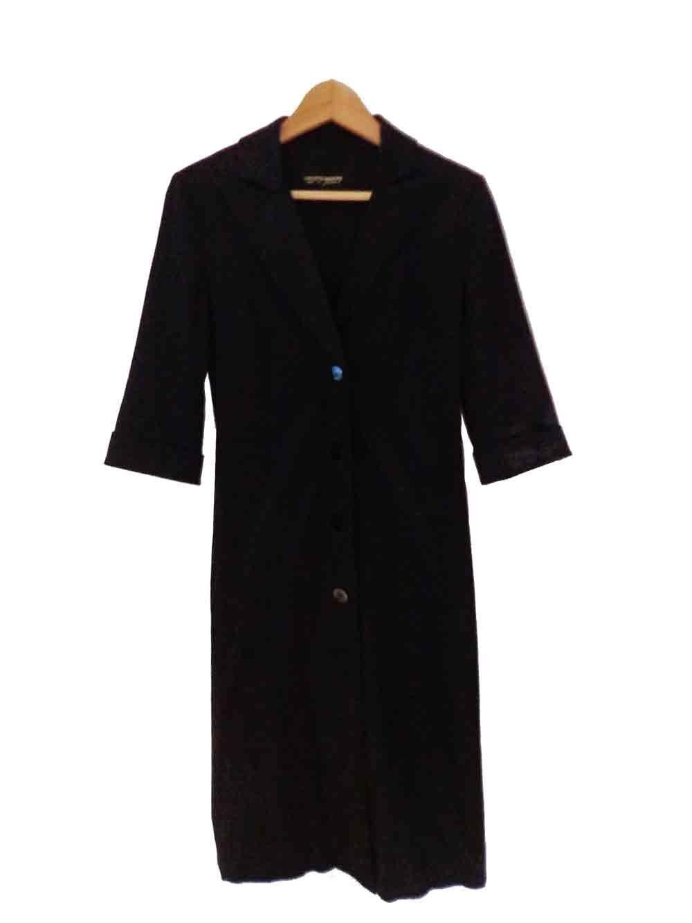 Diseñador  Collette Dinnigan de colección Negro Talla Pequeña impresionante abrigo para mujer  mejor calidad
