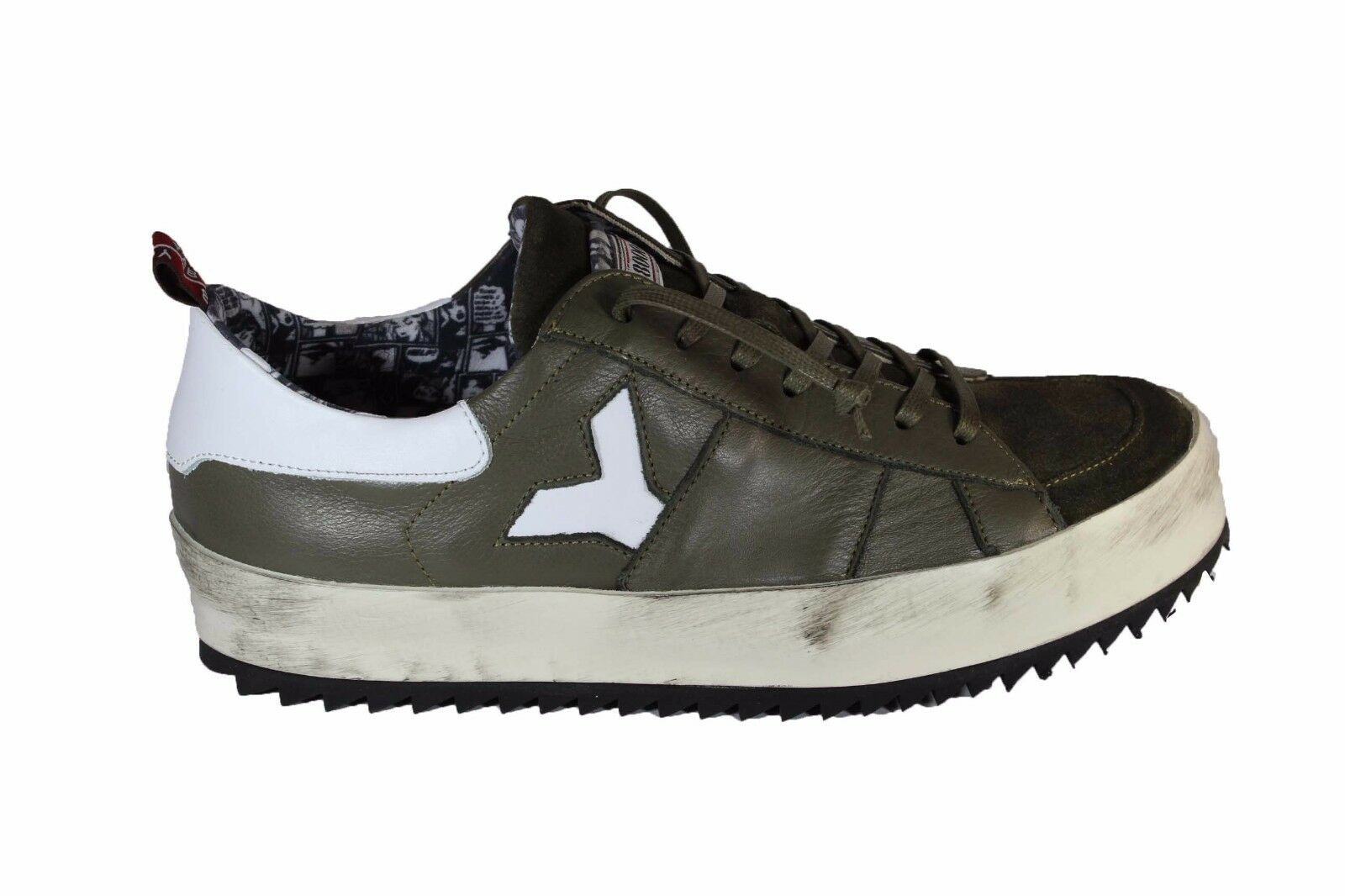 YAB green verde leather sneakers F/W 2017 sneakers in pelle verde green militare A/I 2017 3b71d4