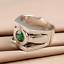 Green Lantern Rings Men Superhero Real 925 Sterling Silver Ring Jewelry Unisex