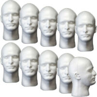 Mn-409 10 Pcs Male Styrofoam Foam Mannequin Head
