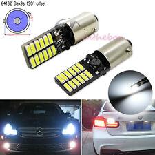 2pcs White Bax9s 64132 64136 Error Free 24-SMD LED Parking or Backup Light Bulbs