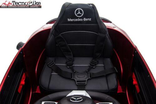 Auto Macchina Elettrica per Bambini 12V Mercedes C63 AMG Sedile Pelle Rosa