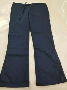 e4f099f3ea7 Fashion Seal Healthcare Women's Drawstring Cargo Scrub Pants M Navy ...