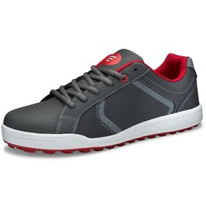 Youth-Founders-Club-Boys-Spikeless-Street-Golf-Shoe-Grey-Red-Tour-Tuned-Model