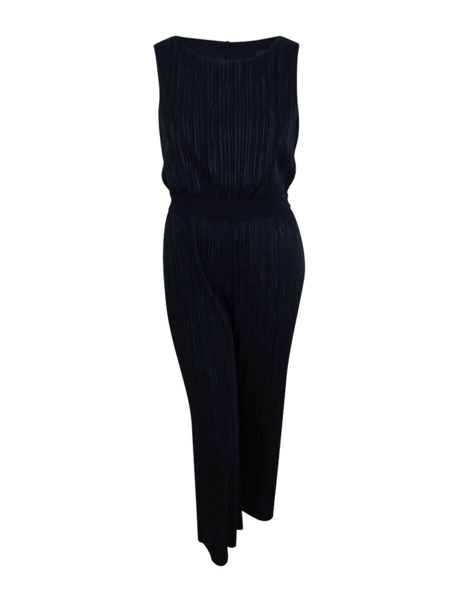 Connected Women's Petite Bodre Pleated Jumpsuit