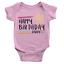 Personalised Stars Happy Birthday Daddy Babygrow Custom Name Love Gift Present