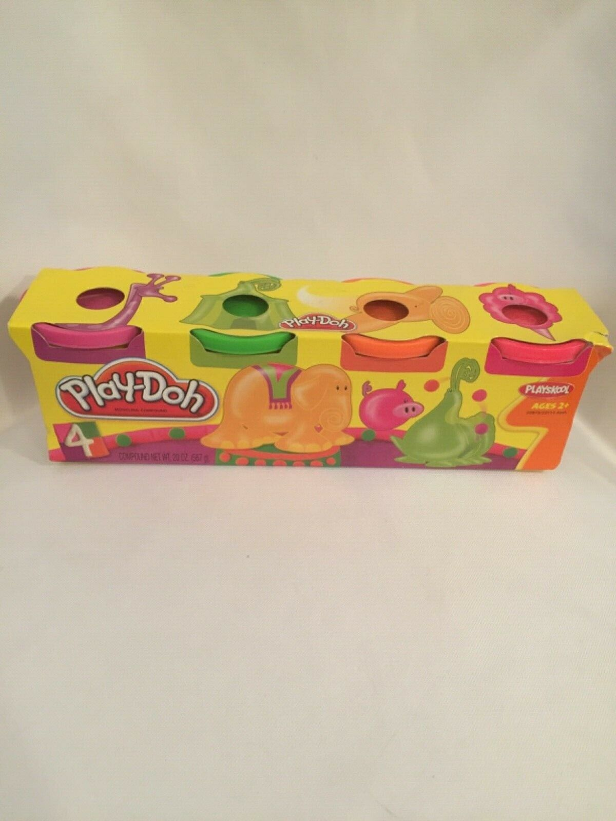 Purple Green Blue Orange Hasbro Play-Doh 4-Pack of Colors 16 Ounce Total