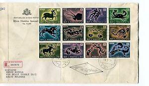 Raisonnable 1979 Fdc San Marino Segni Dello Zodiaco Registered Raccomandata First Day Cover
