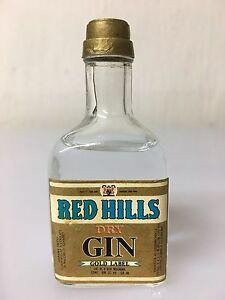 Mignon-Miniature-BUTON-Red-Hills-Dry-Gin-Gold-Label-40cc-45-Vol
