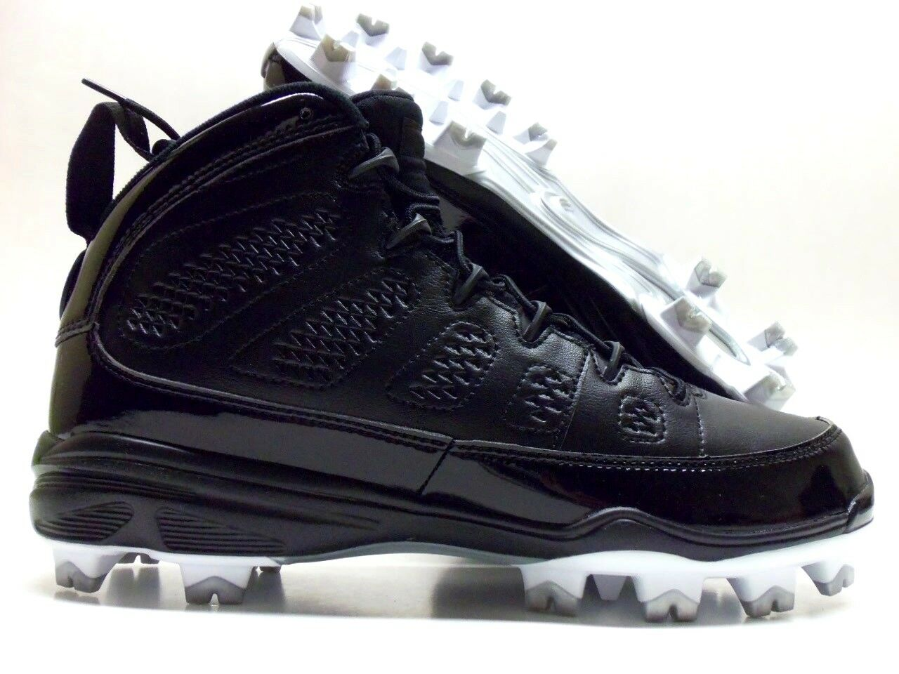 NIKE JORDAN SIZE IX RETRO MCS BASEBALL CLEAT BLACK/WHITE SIZE JORDAN MEN'S 9 [AA1264-011] c2bdd2