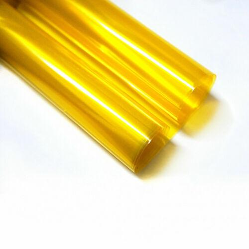"12x48/"" Glossy Golden Yellow Smoke Headlight Tint Fog Light SideMarker Vinyl Film"