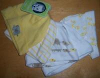 Gerber Neutral 5 Pack Hats, Safari Theme, Baby Shower, 0-6 Months