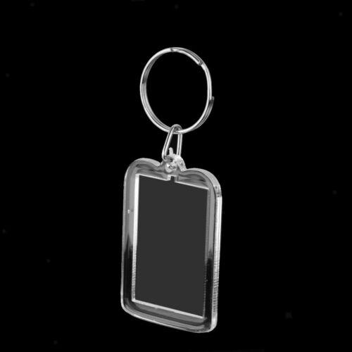 10pcs Fotorahmen Schlüsselanhänger für Passbilder Rahmen Rechteck 3.3x5cm