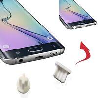4 x anti dust Aux micro usb port Plug For HTC One E8 - White