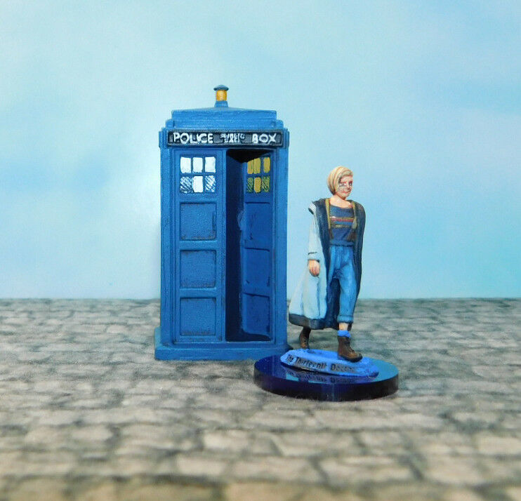 Well Painted Warlord28mm Doctor Who Exterminate  Thirteenth Doctor and Tardis-II