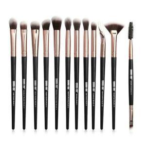 12St-Make-Up-Buersten-Satz-Augen-Schatten-Blending-Augenbraue-Pinsel-I8V3