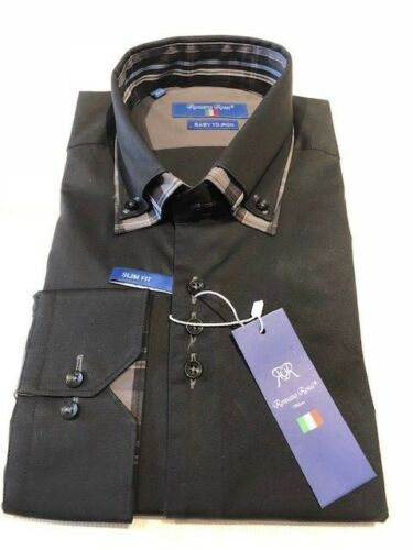 see our other shirts too Men/'s Black Double Collar Stylish Slim Fit Shirt