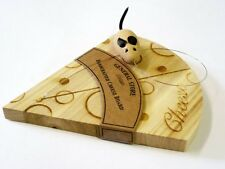Mouse Cheese Board Handcrafted Wood Novelty Dinner Party Wedge Vintage Gift Joke