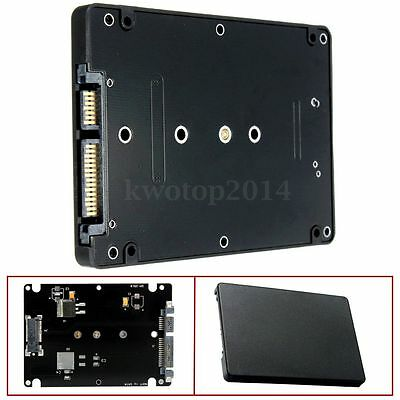 """M.2 NGFF (SATA) SSD to 2.5"""" SATA Adapter Card 8mm Thickness Enclosure with Case"""