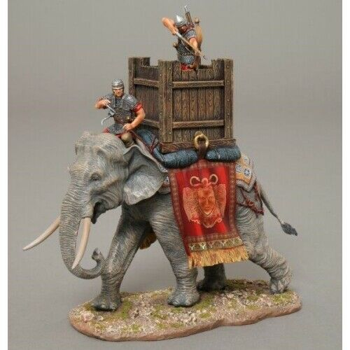 Roman-War-Elephant-set-with-two-figures-ROM048-by-Thomas-Gunn