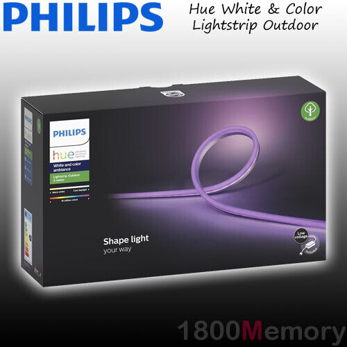 Philips Hue White & Color Ambiance Lightstrip Outdoor 5m LED Light Strip IP67